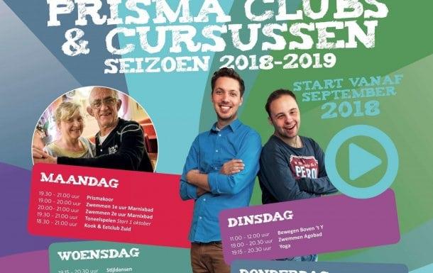 De Prisma clubs en cursussen starten weer