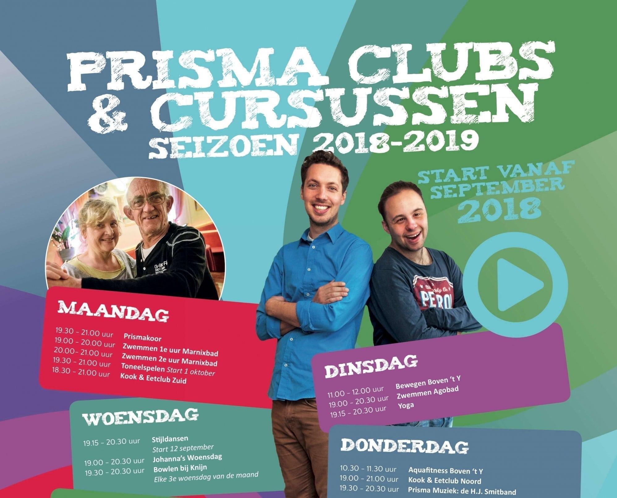 Nieuwe poster Clubs & Cursussen 2018-2019