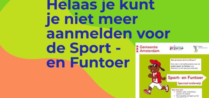 Aanmelden kan niet meer! Sport- en Funtoer  volgeboekt!
